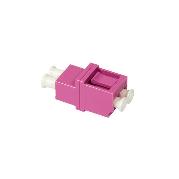 LogiLink LWL Kupplung, 2x LC-Duplex, Multimode, violett