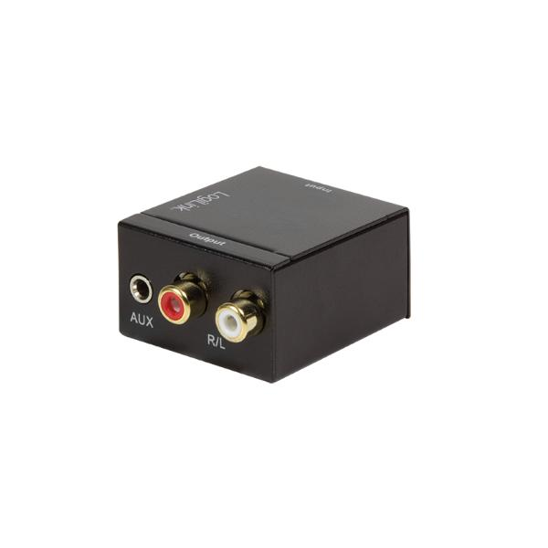 LogiLink Audio Konverter, Digital auf Analog, 3,5 mm/SPDIF/