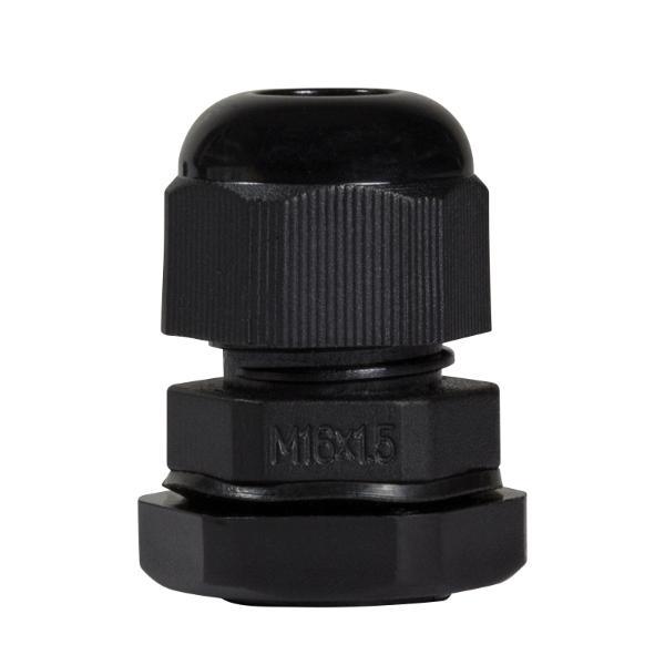 LogiLink Kabelverschraubung M16, IP68, schwarz (RAL9005)