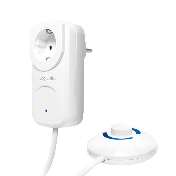 LogiLink Adapterstecker mit Fußschalter, weiß