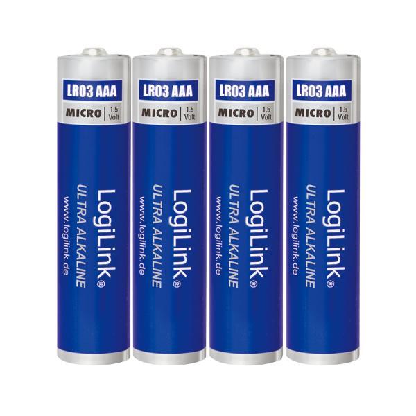 LogiLink Alkaline Batterie Ultra Power, Micro (AAA/LR03)
