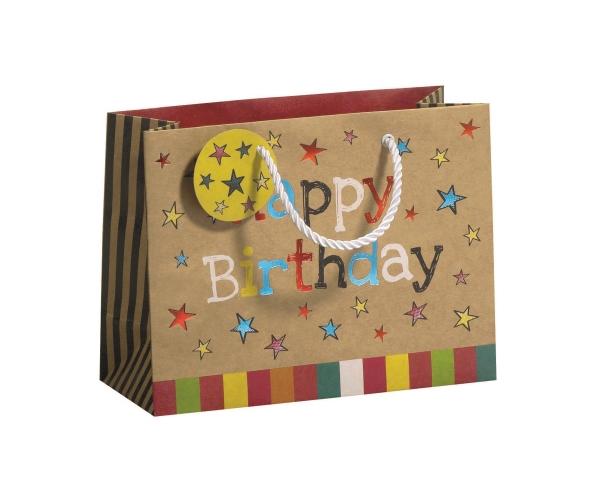 Geschenktragetasche Happy Day Midi, Größe B225 x T092 x ...