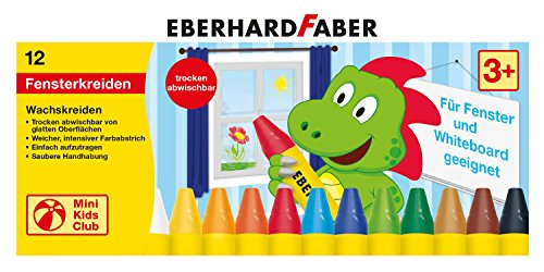 EBERHARD FABER Fenster-Wachsmalkreide, dreieckig, 12er Etui