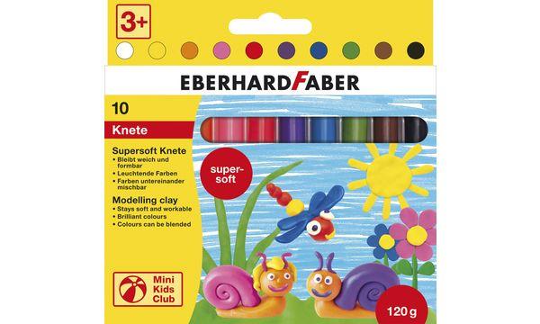 EBERHARD FABER Supersoft Kinderknete, 10er Kartonetui