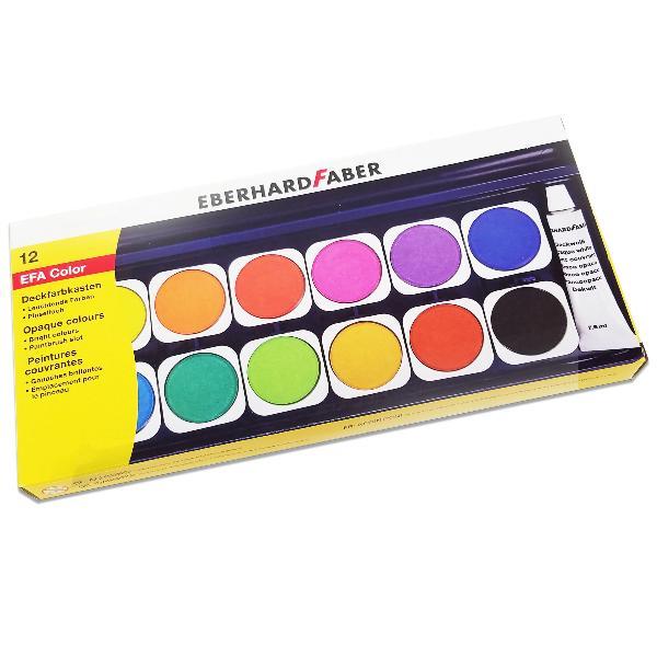 EBERHARD FABER Deckfarbkasten EFA Color, 12 Farben
