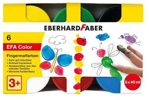Eberhard Faber Fingerfarbe 40ml 6er EFA auswaschbar