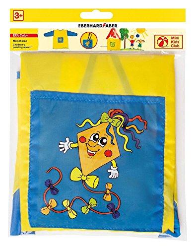 EBERHARD FABER Kinder-Malschürze Mini Kids Club, blau/gelb