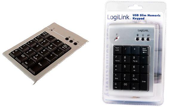 LogiLink USB 2.0 Nummernblock, mit Anschlusskabel, 19 Ta...