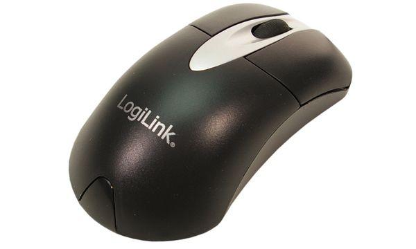 LogiLink Optische Maus, kabelgebunden, schwarz/silber