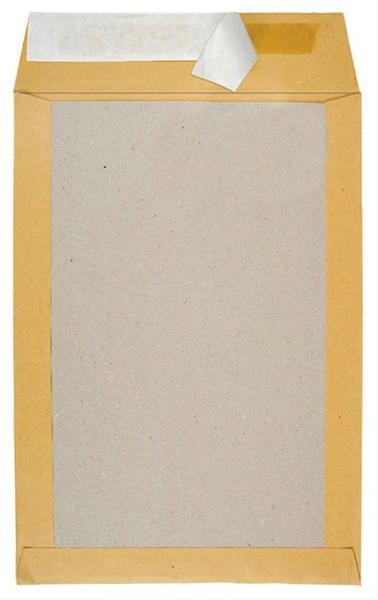 100 Papprückwandtaschen B4 ohne Fenster