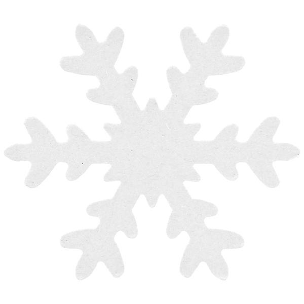12x Schneeflocke WEISS ausgestanzt 7,5cm DEKO Basteln Ka...