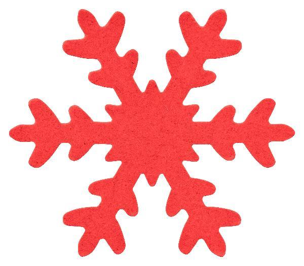12x Schneeflocke ROT ausgestanzt 7,5cm DEKO Basteln Karton