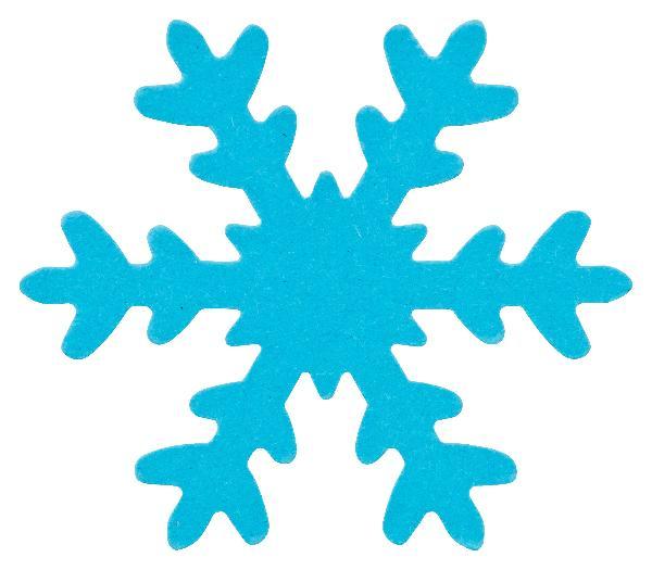 12x Schneeflocke BLAU ausgestanzt 7,5cm DEKO Basteln Karton