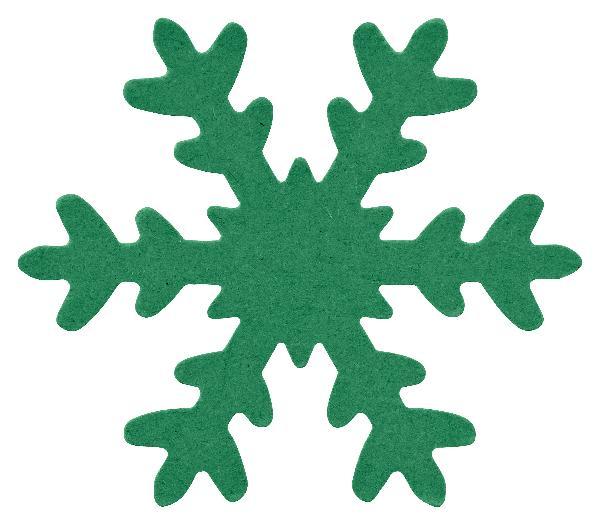 12x Schneeflocke GRÜN ausgestanzt 7,5cm DEKO Basteln Karton