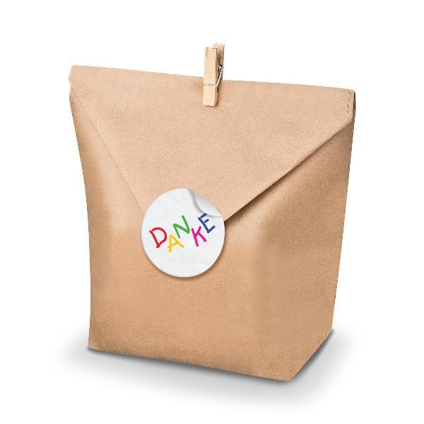 SET Danke KIDS (Motiv28) 24x Geschenktüten + Klammern+ A...