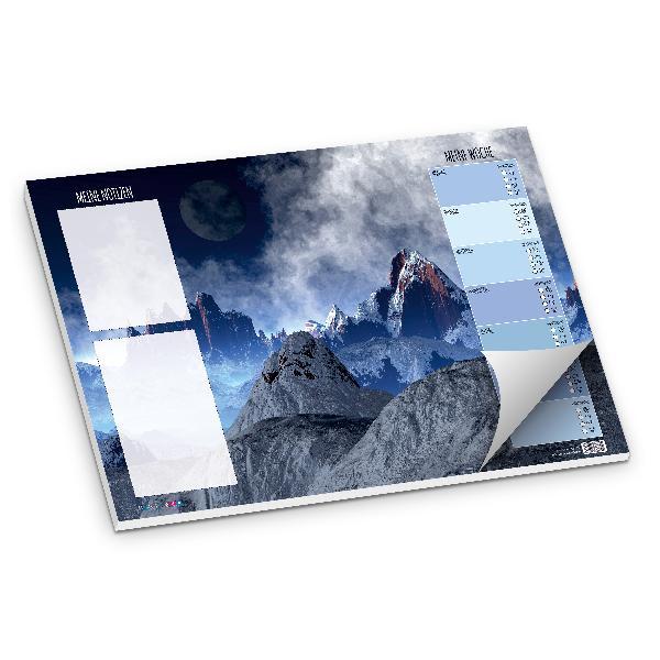 itenga Schreibtischunterlage Berge DIN A3 50 Blatt