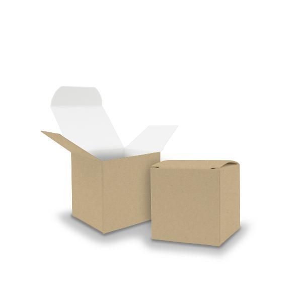 25x itenga Würfelbox KraftKarton 5x5cm außen braun innen...