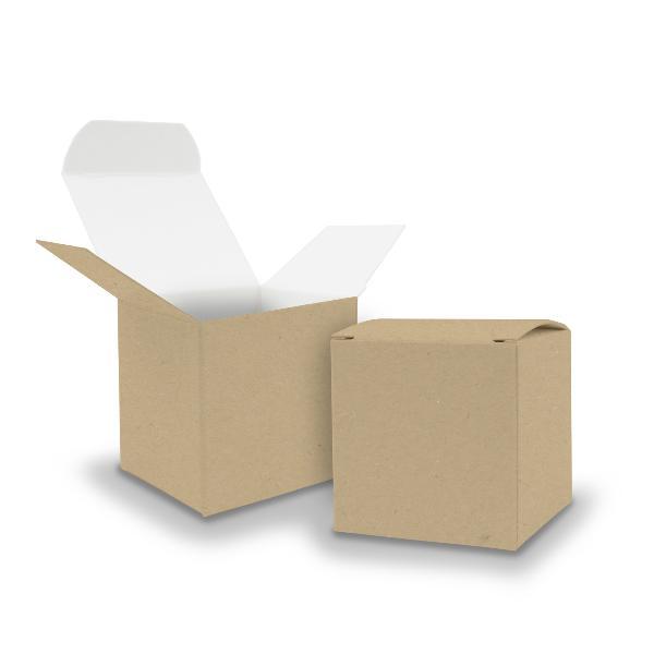 25x itenga Würfelbox KraftKarton 6,5x6,5cm außen braun i...