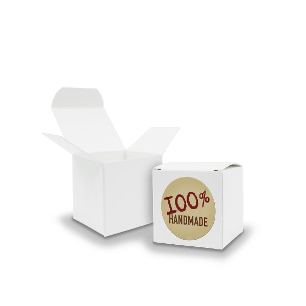 SET 100% Handmade (Motiv12) 24x Faltschachtel Würfel 5cm...