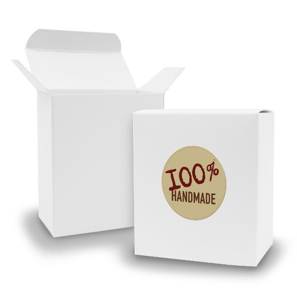 SET 100% Handmade (Motiv12) 24x Faltschachtel Quader wei...