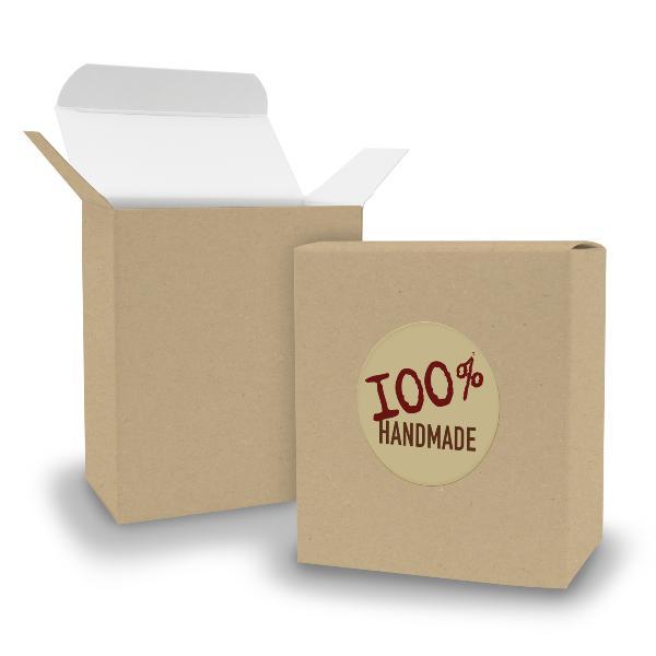 SET 100% Handmade (Motiv12) 24x Faltschachtel Quader BRA...