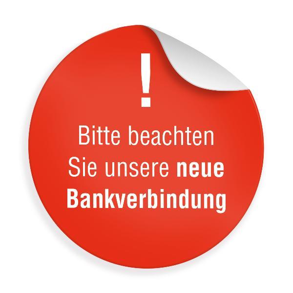 "24 x itenga Sticker ""Hinweis Bankverbindung"" (Motiv 46)"