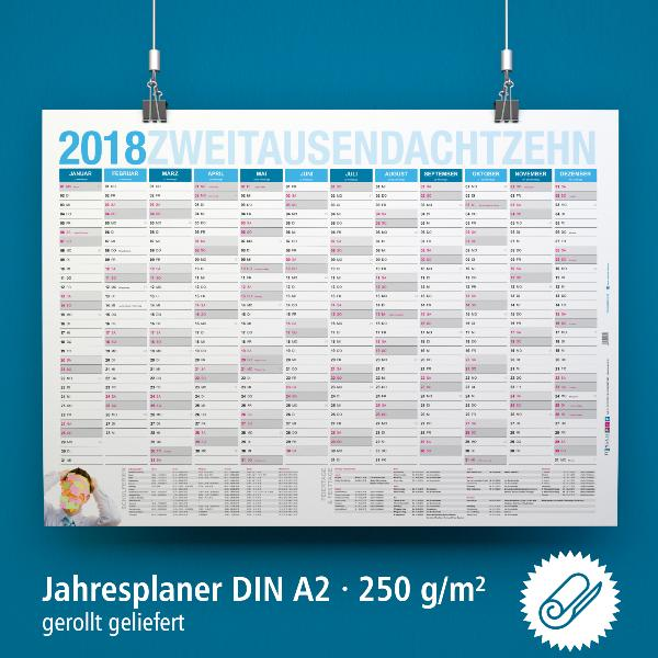 itenga Jahresplaner 2018 Wandkalender DIN A2 (59,4 x42cm...