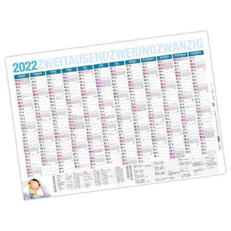 itenga Jahresplaner 2020 Wandkalender DIN A0 abwischbar ...