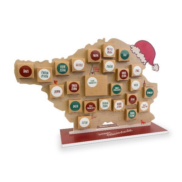 itenga Adventskalender Saarland zum Aufstellen und Füllen