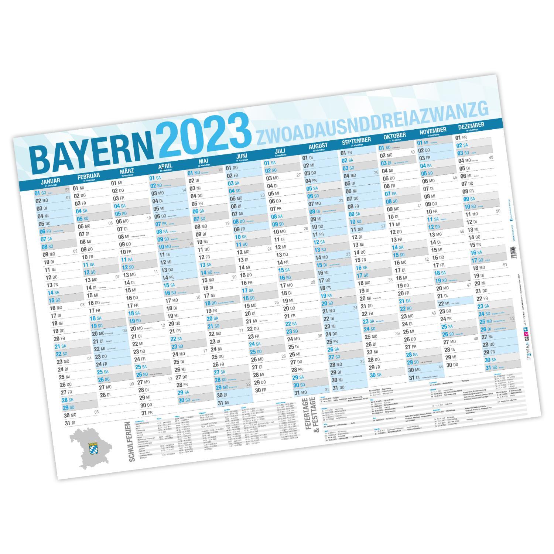 Jahresplaner Bayern 2020 Wandkalender DIN A0 (118,9 x 84...