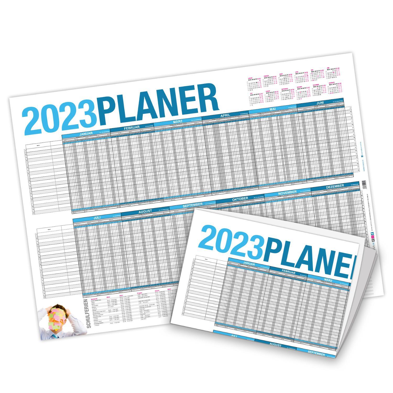 Urlaubsplaner Projektplaner 2021 Wandkalender DIN A2 gef...