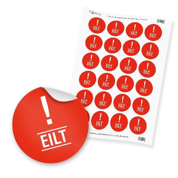 "24 x itenga Hinweis Aufkleber Sticker ""Eilt"" (Motiv 60)"
