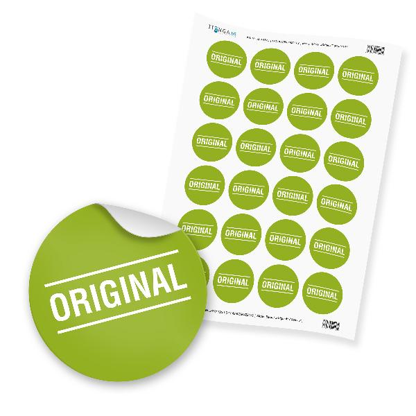 "24 x itenga Hinweis Aufkleber Sticker ""Original"" (Motiv 61)"