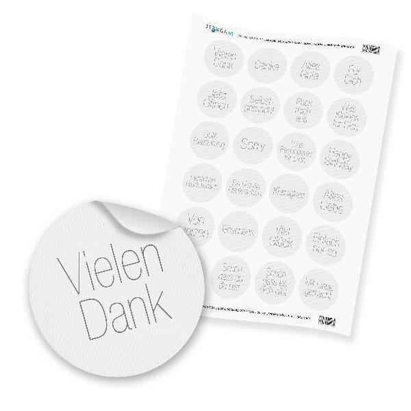 """24 x itenga Sticker """"Sprüche Schlicht Hell"""" (Motiv 69)"""