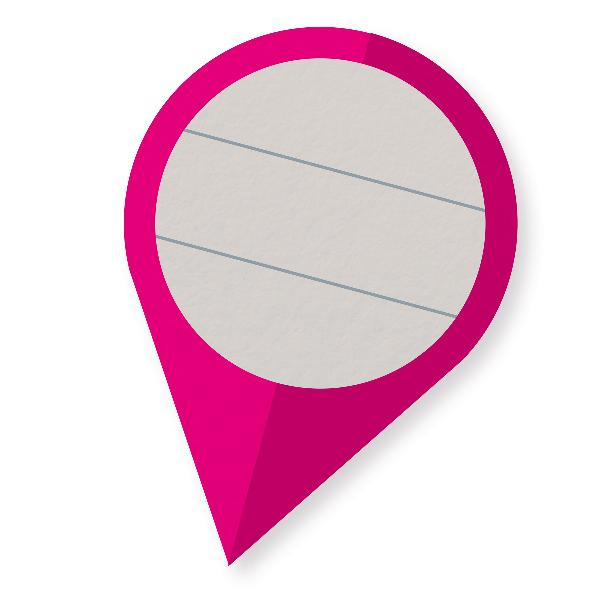 Itenga Sticker 10 x Pin-Sticker magenta