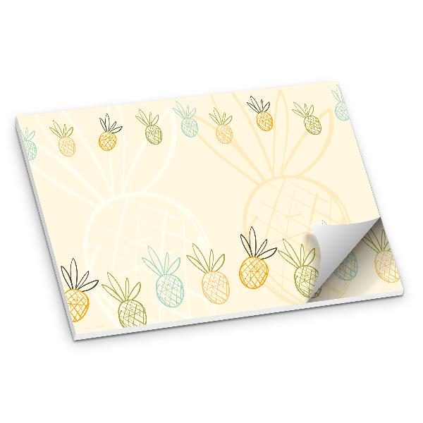 itenga Schreibtischunterlage Tischset Ananas DIN A3 50 B...
