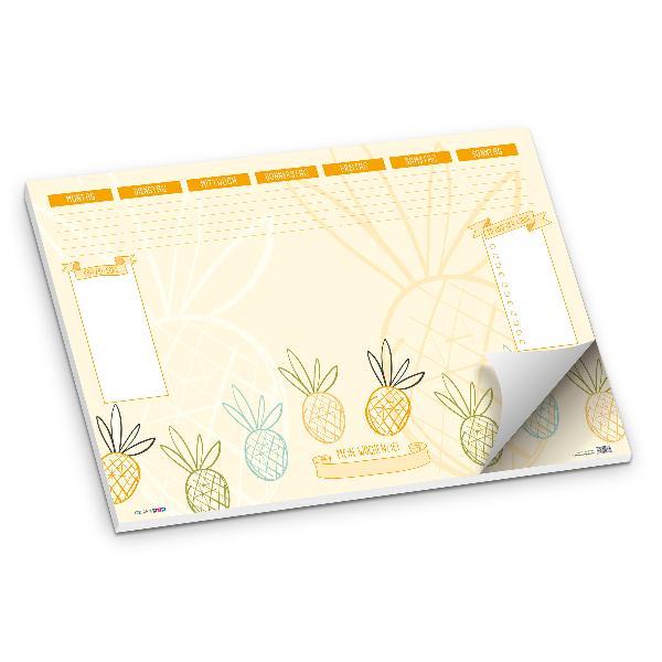 itenga Schreibtischunterlage Ananas DIN A2 50 Blatt