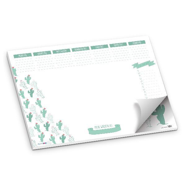 itenga Schreibtischunterlage Kaktus DIN A2 50 Blatt