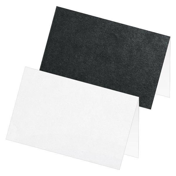 itenga 24x Tischkarte Platzkarte Namensschild weiß grau ...