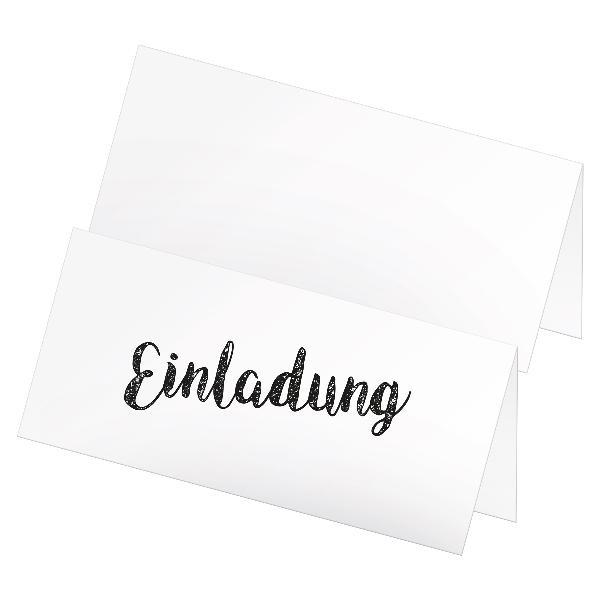 itenga 12x Klappkarte Einladung DIN Lang (21,0 x 9,9 cm)...