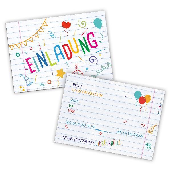 itenga 12x Einladungskarte Kindergeburtstag Einschulung ...