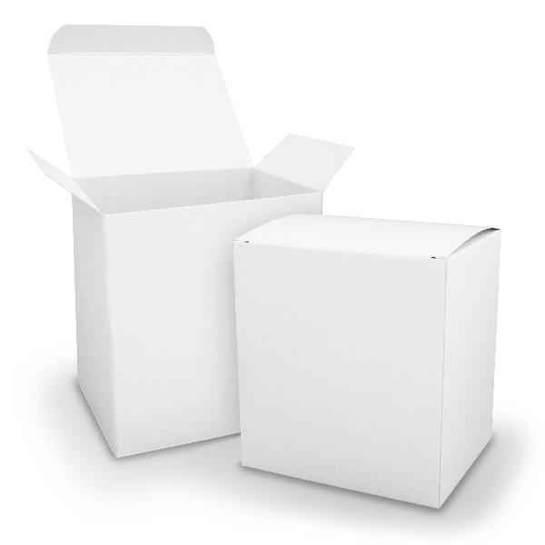 itenga Würfelbox XL aus Karton 11x9x12cm weiß Gastgeschenk