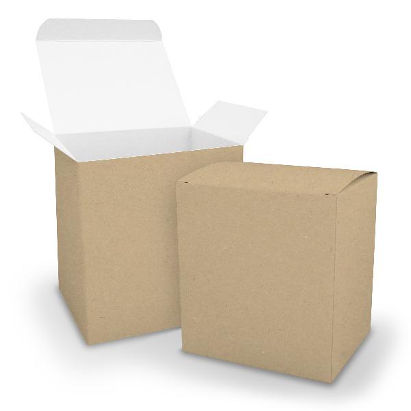 itenga Würfelbox XL aus Karton 11x9x12cm braun Gastgeschenk