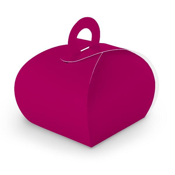 10x itenga Geschenkbox mit Griff Kraftkarton pink