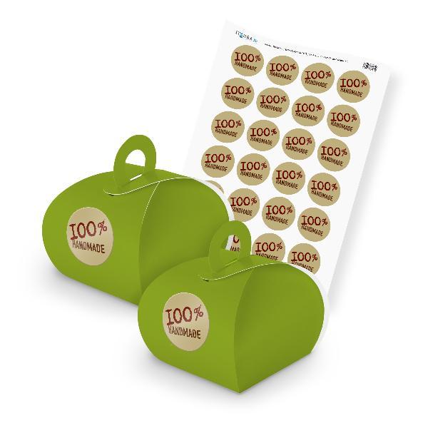 itenga SET 100% Handmade (Motiv 12) 24x Geschenkschachte...