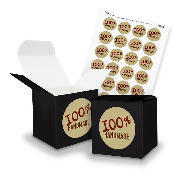 itenga SET 100% Handmade (Motiv 12) 24x Würfel 6,5cm sch...