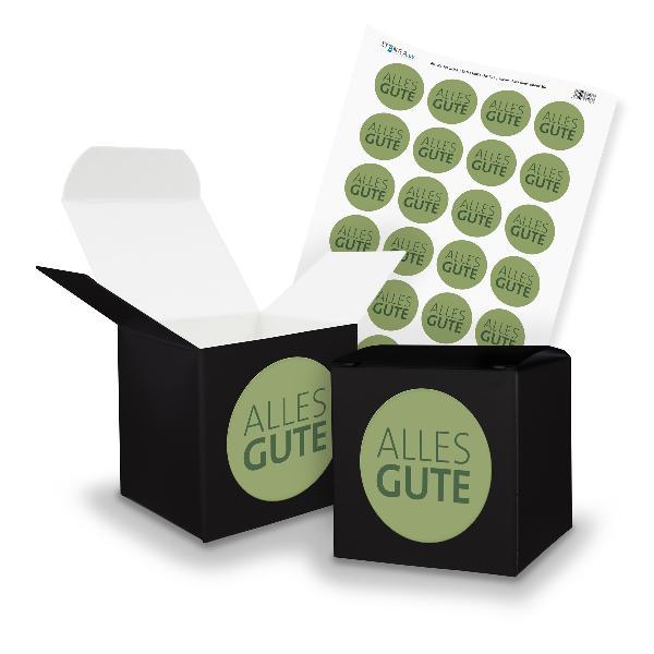 itenga SET Alles GUTE (Motiv 20) 24x Würfel 6,5cm schwar...