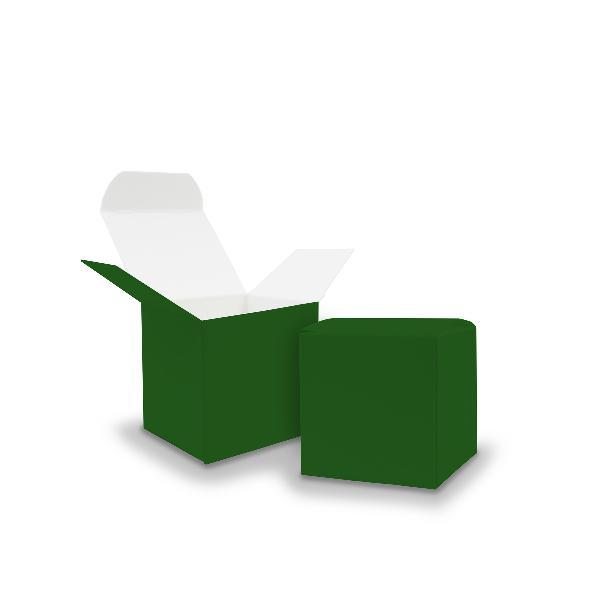 itenga Würfelbox aus Karton 5x5cm dunkelgrün Gastgeschenk
