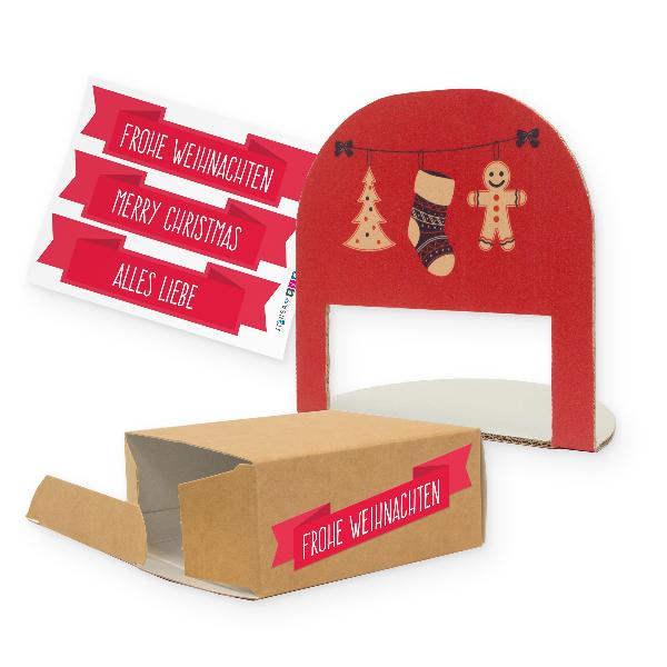 itenga Geschenkverpackung Weihnachtsdeko (Motiv 36)