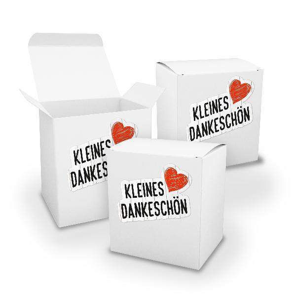 itenga Geschenkverpackung Set 3x XL Würfel weiß + Sticke...